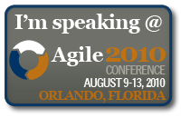 Agile 2010 Speaker